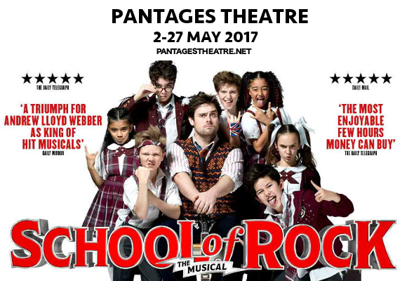 school of rock musical tour pantages theatre