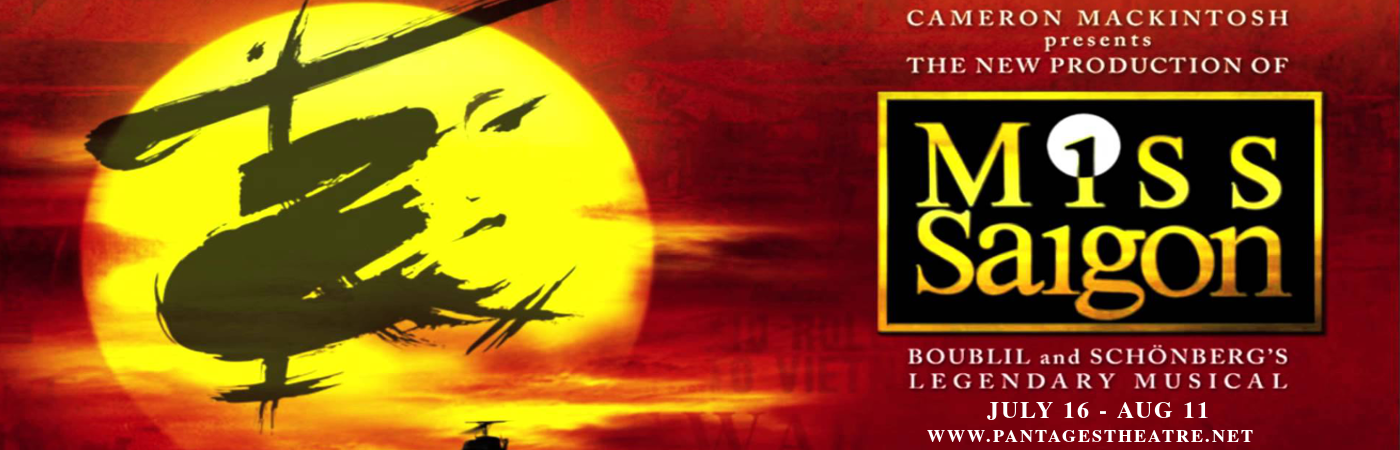 miss saigon broadway musical theatre play pantages theatre tickets