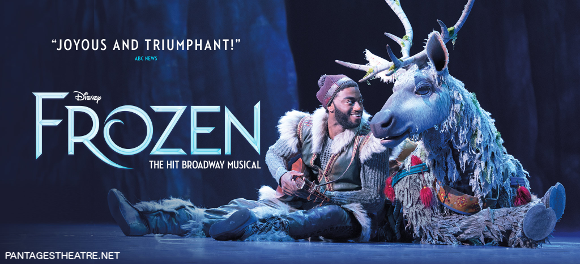 frozen broadway musical pantages theater get tickets