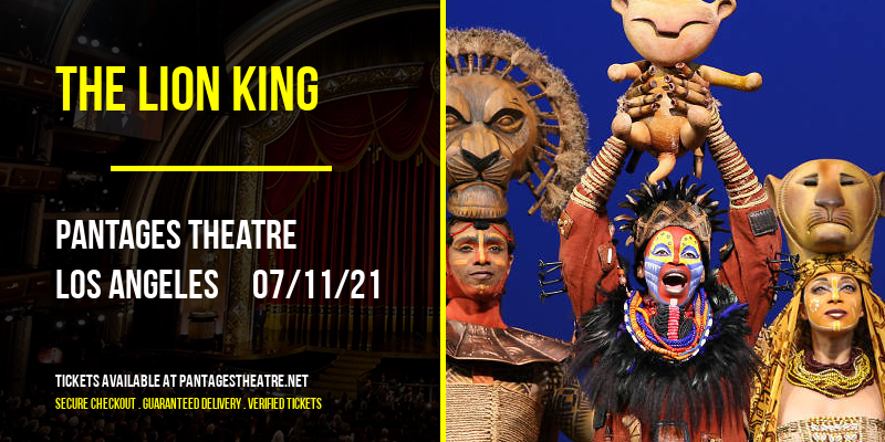 The Lion King at Pantages Theatre
