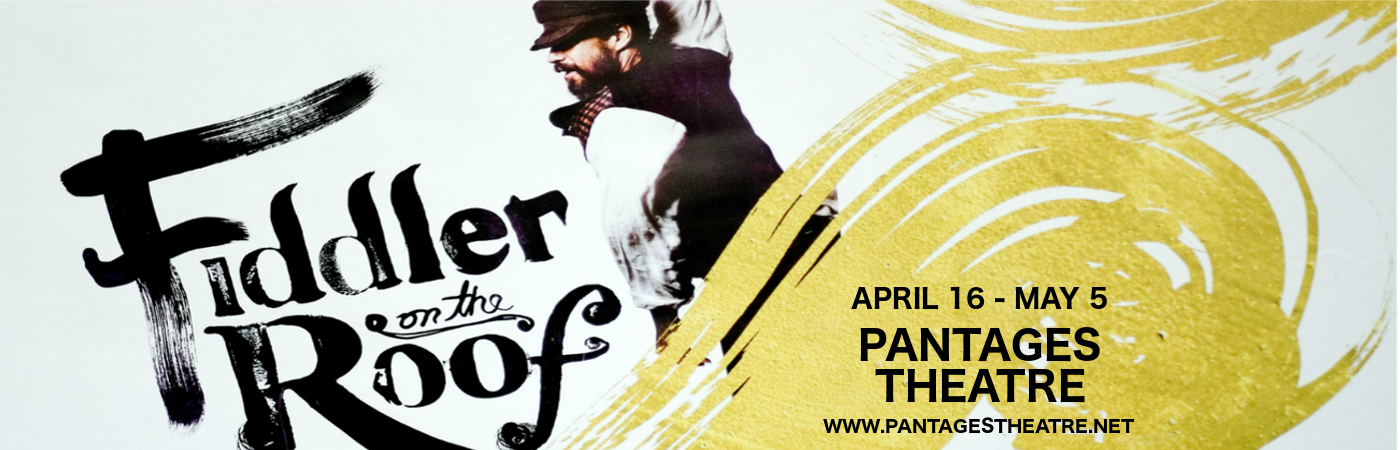 fiddler on the roof musical pantages theatre
