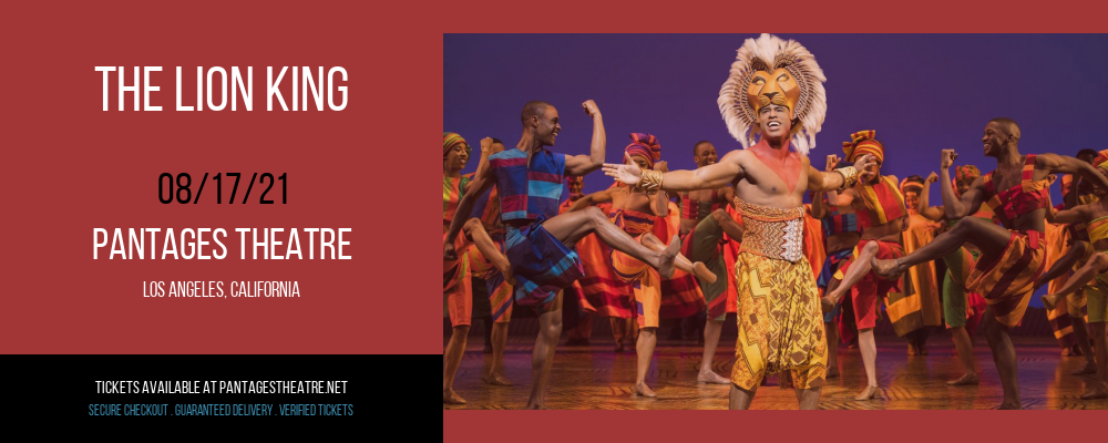 The Lion King [CANCELLED] at Pantages Theatre