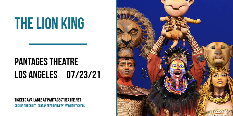 The Lion King [POSTPONED] at Pantages Theatre
